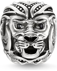 Thomas Sabo - Black Lion Sterling Silver Karma Bead - Lyst