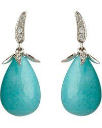 Annoushka - Blue Chilli White Heat 18Kt White-Gold, Amazonite And Diamond Earrings - For Women - Lyst