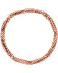 Links of London - Metallic Effervescence Star Extra-small Rose-gold Plated Bracelet - Lyst