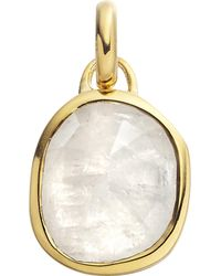 Monica Vinader - Black Siren 18ct Gold-plated Vermeil And Moonstone Pendant - Lyst