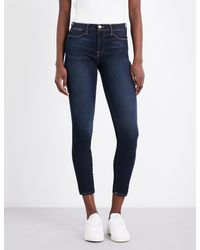 FRAME - Ladies Blue Classic Skinny High-rise Jeans - Lyst