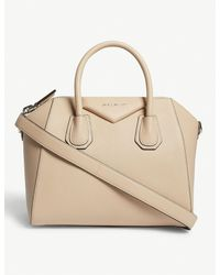 3722905080d3 Lyst - Givenchy Antigona Small Grained Leather Tote in Natural