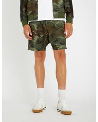 The Kooples - Green Camouflage-print Jersey Shorts for Men - Lyst