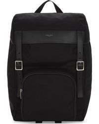 Saint Laurent - Black Moon Hunting Nylon Backpack - Lyst