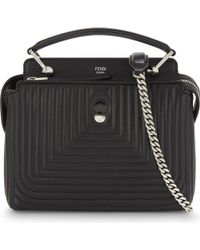 Fendi - Black Quilted Leather Cross-body Bag - Lyst