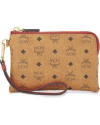 MCM - Multicolor Visetos Leather Wallet - Lyst