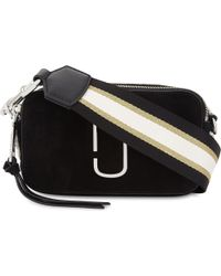 Marc Jacobs - Black Snapshot Nubuck And Leather Cross-body Bag - Lyst