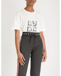Givenchy - White Logo Patch Short-sleeve T-shirt - Lyst