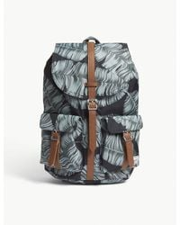 Herschel Supply Co. - . Black Palm And Tan Brown Floral Dawson Backpack for Men - Lyst