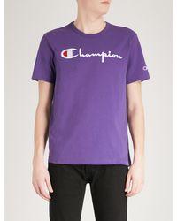 Champion - Purple Classic Cotton-jersey T-shirt for Men - Lyst