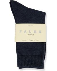 Falke - Blue Family Cotton-blend Ankle Socks - Lyst