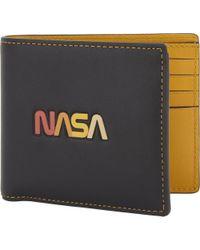 COACH - Black Mens Nasa Glovetanne Leather Wallet And Card Holder for Men - Lyst