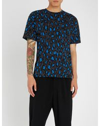 cc3062f1caae KENZO Straight Leo Print T-shirt in Blue for Men - Lyst