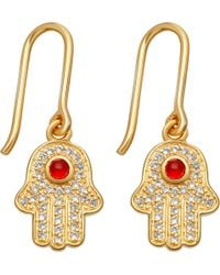 Astley Clarke - Multicolor Biography 18ct Yellow-gold Plated Hamsa Earrings - Lyst