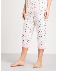 PETER ALEXANDER - White Confetti Cotton Pyjama Bottoms - Lyst