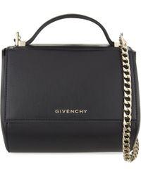 Givenchy - Black Pandora Mini Leather Shoulder Bag - Lyst