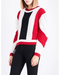 Claudie Pierlot - Red Mixity Knitted Wool Jumper - Lyst