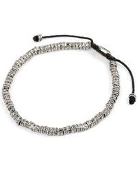 M. Cohen - Black Oxidised Fish Bone Bracelet - Lyst
