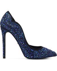 Carvela Kurt Geiger | Blue Glassy Embellished Courts | Lyst