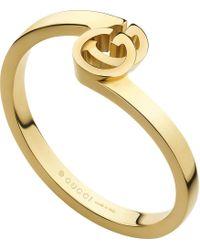 Gucci - Metallic Gg 18ct Gold Ring - Lyst