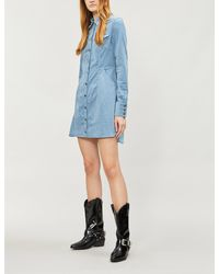 1f01ce1e354 Free People Dynamite Fitted Corduroy Mini Dress in Blue - Lyst