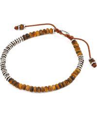 M. Cohen - Brown Beaded Gemstone Bracelet - Lyst