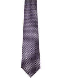 Ermenegildo Zegna - Mens Purple Square Diamond-square Silk Tie for Men - Lyst