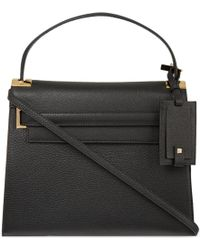 Valentino - Black My Rockstud Grained Leather Satchel - Lyst