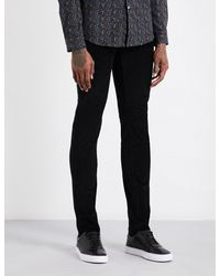 PS by Paul Smith - Black Slim-fit Skinny Corduroy Stretch-cotton Jeans for Men - Lyst