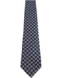 Etro - Blue Mini Paisley Silk Tie for Men - Lyst