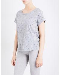 Tommy Hilfiger - Gray Logo-print Cotton-blend Pyjama Top - Lyst