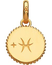 Links of London - Black Pisces 18ct Yellow-gold Vermeil Zodiac Charm - Lyst