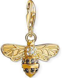Thomas Sabo - Metallic Charm Club 18ct Gold-plated Bee Charm - Lyst