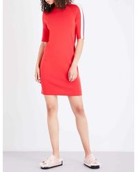 Mo&co. - Red Raglan Sleeve Knitted Dress - Lyst