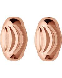 Links of London - Metallic Essentials Rose-gold Vermeil Beaded Stud Earrings - Lyst