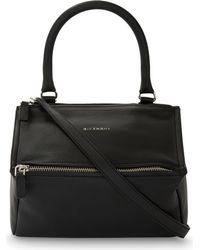 Givenchy - Black Pandora Sugar Medium Grained Leather Shoulder Bag - Lyst