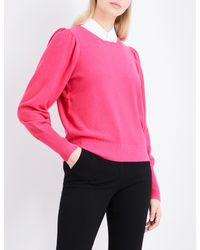 Claudie Pierlot - Pink Mathys Detachable-collar Knitted Jumper - Lyst