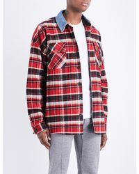e979e0bd8f Lyst - Fear Of God Fifth Collection Oversized Denim Shirt in Red for Men