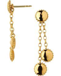 Links of London - Metallic Amulet 18ct Gold Vermeil Drop Earrings - Lyst