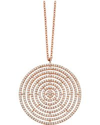 Astley Clarke - Metallic Large Icon Aura 14ct Rose-gold And Diamond Pendant Necklace - Lyst