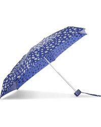 Fulton - Blue Polka Dot Print Umbrella - Lyst