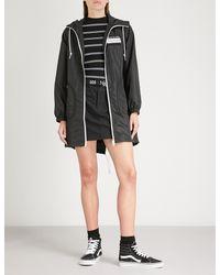 Mini Cream - Black Printed Shell Hooded Jacket - Lyst