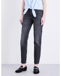 Claudie Pierlot - Blue Pampa Straight High-rise Jeans - Lyst