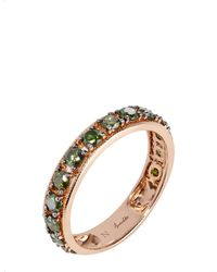Annoushka | Multicolor Dusty Diamonds 18ct Rose-gold And Diamond Eternity Ring | Lyst