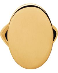 Links of London - Metallic Narrative Oval 18ct Gold Vermeil Ring - Lyst