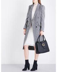 Burberry | Black Trentwood Donegal Herringbone Wool-tweed Coat | Lyst