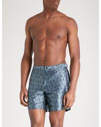 9fb97f474d4ea La Perla Aqua Pura Printed Jacquard Swim Shorts in Blue for Men - Lyst