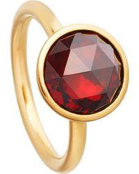 Astley Clarke | Multicolor Stilla 18ct Yellow-gold Plated Garnet Ring | Lyst