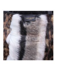 Kurt Geiger - Brown Poppy Mixed Print Faux Fur Tote - Lyst