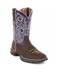 Durango - Blue Lady Rebel By Women's Twilight N' Lace Saddle Western Boot - Lyst